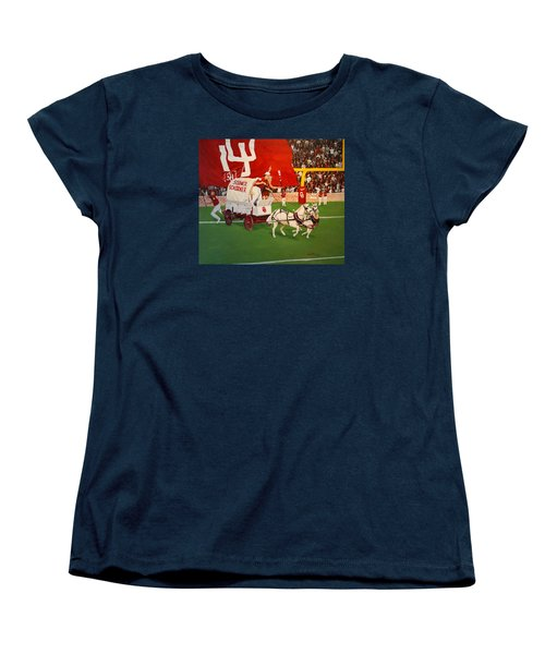 College Football In America Women's T-Shirt (Standard Cut) by Alan Lakin