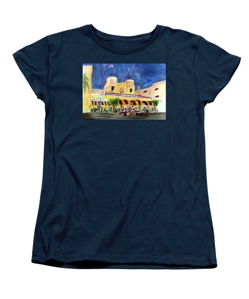 Colony Hotel In Delray Beach Women's T-Shirt (Standard Cut) by Donna Walsh