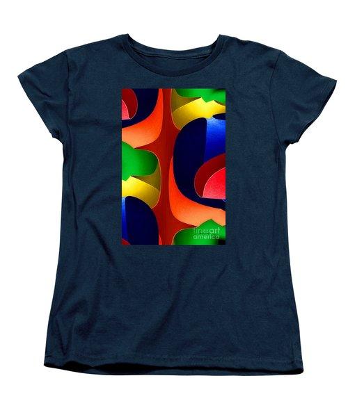 Women's T-Shirt (Standard Cut) featuring the digital art Color Maze by Rafael Salazar