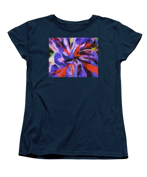 Women's T-Shirt (Standard Cut) featuring the digital art Color My Insecurity by Joe Misrasi