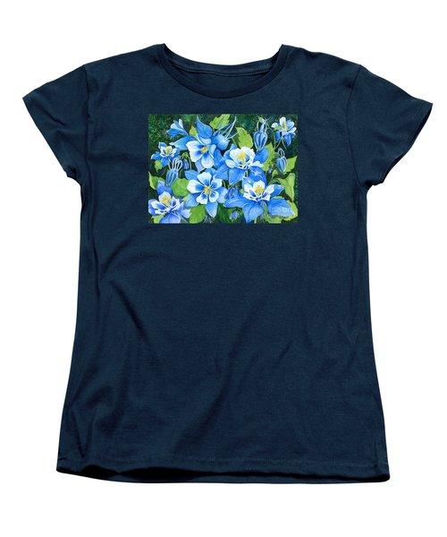Colorado Columbines Women's T-Shirt (Standard Cut) by Barbara Jewell