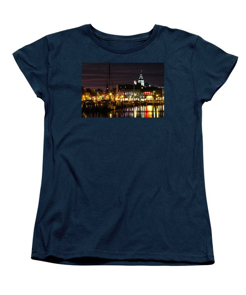 Women's T-Shirt (Standard Cut) featuring the photograph Colorful Annapolis Evening by Jennifer Casey