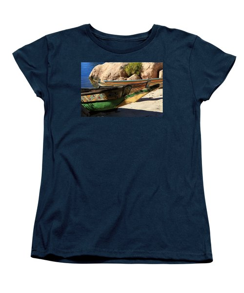 Women's T-Shirt (Standard Cut) featuring the photograph Colorul Canoe by Chris Thomas
