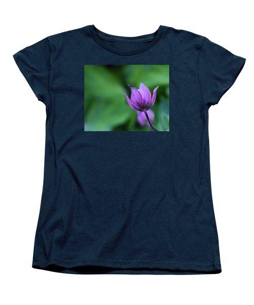 Columbine Flower Bud Women's T-Shirt (Standard Cut) by Kathy Eickenberg