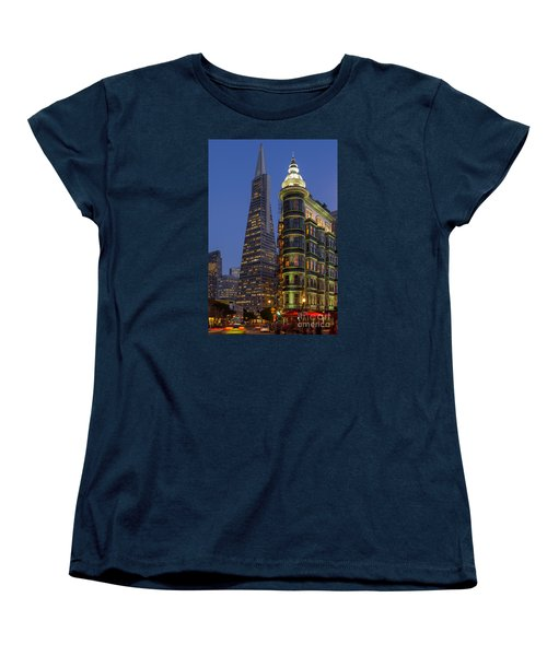 Columbus And Transamerica Buildings Women's T-Shirt (Standard Cut) by Jerry Fornarotto