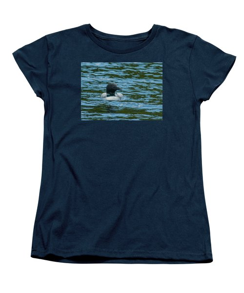Women's T-Shirt (Standard Cut) featuring the photograph Common Loon by Brenda Jacobs