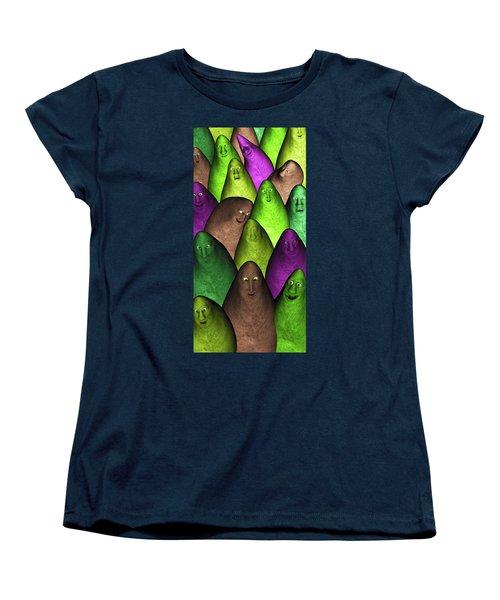 Women's T-Shirt (Standard Cut) featuring the digital art Community 2 by Gabiw Art