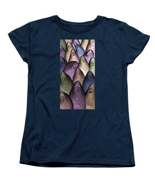 Women's T-Shirt (Standard Cut) featuring the digital art Community by Gabiw Art