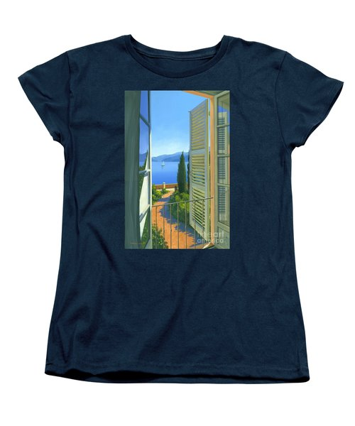 Women's T-Shirt (Standard Cut) featuring the painting Como View by Michael Swanson