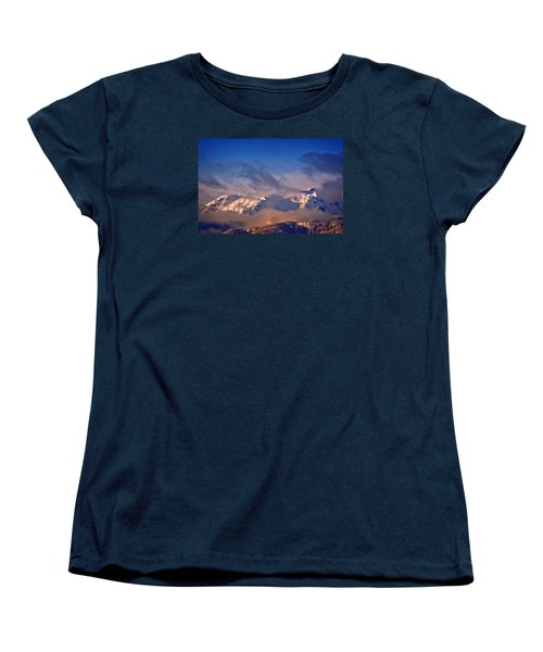 Comox Glacier And Morning Mist Women's T-Shirt (Standard Cut) by Richard Farrington