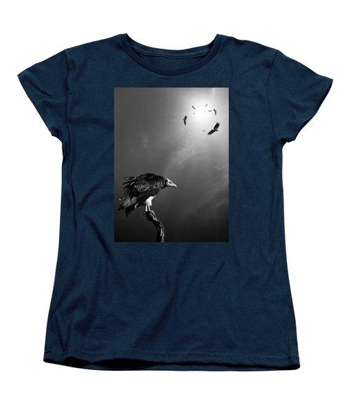 Conceptual - Vultures Awaiting Women's T-Shirt (Standard Cut) by Johan Swanepoel
