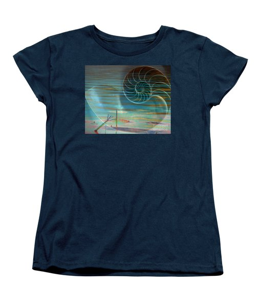Conch Women's T-Shirt (Standard Cut) by Irma BACKELANT GALLERIES
