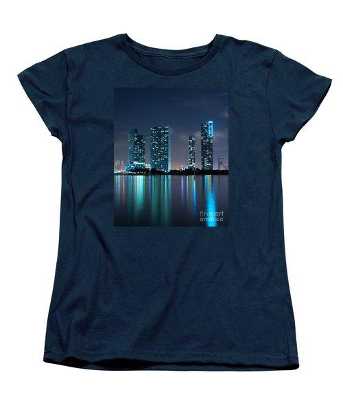 Women's T-Shirt (Standard Cut) featuring the photograph Condominium Buildings In Miami by Carsten Reisinger