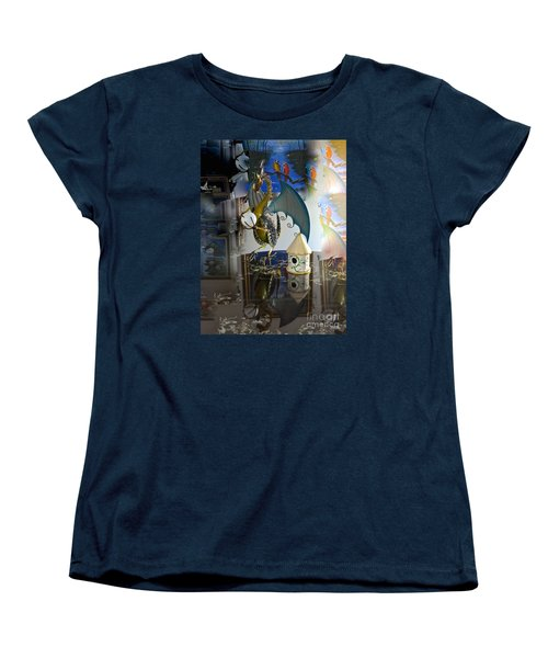 Conglomerate Or Camouflage Women's T-Shirt (Standard Cut) by Phyllis Kaltenbach