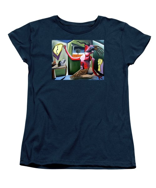 Women's T-Shirt (Standard Cut) featuring the painting Contemplifluxuation by Ryan Demaree