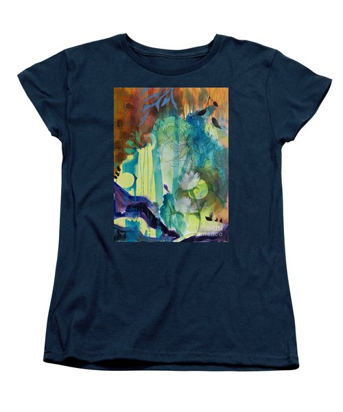 Women's T-Shirt (Standard Cut) featuring the painting Continuum by Robin Maria Pedrero