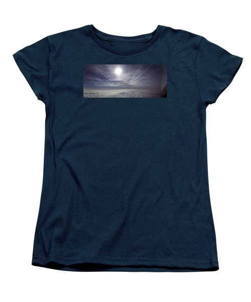 Contrail Panorama Women's T-Shirt (Standard Cut) by Greg Reed
