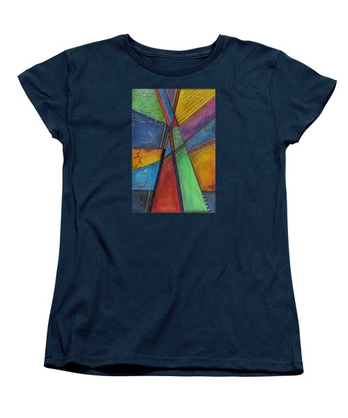 Women's T-Shirt (Standard Cut) featuring the painting Convergence by Nicole Nadeau