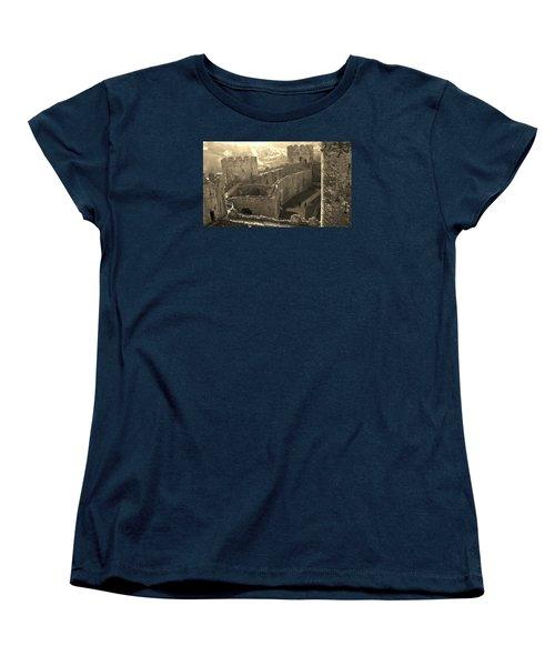 Conwy Castle Women's T-Shirt (Standard Cut) by Richard Brookes