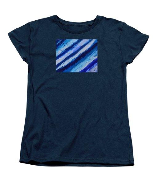 Cool Azul Women's T-Shirt (Standard Cut) by Donna  Manaraze