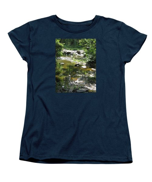 Women's T-Shirt (Standard Cut) featuring the photograph Cool Waters by Ellen Levinson