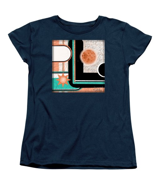 Women's T-Shirt (Standard Cut) featuring the painting Coral Moon by Carol Jacobs