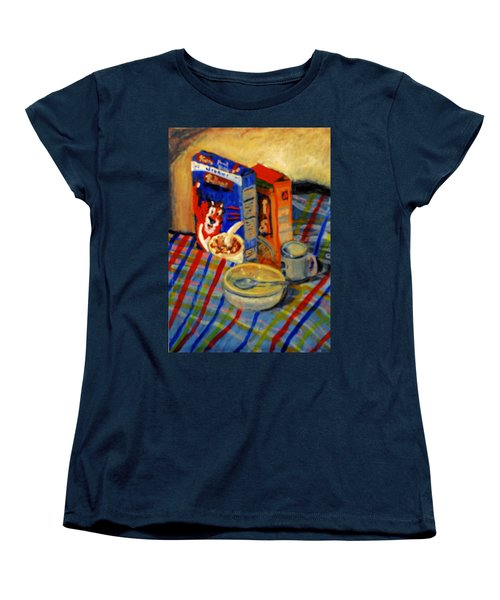 Women's T-Shirt (Standard Cut) featuring the painting Corn Flakes by Michael Daniels
