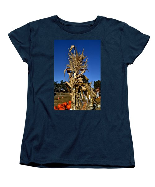 Women's T-Shirt (Standard Cut) featuring the photograph Corn Stalk by Michael Gordon
