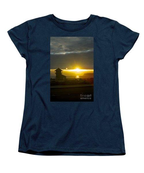Coronado's Beach At Sunset Women's T-Shirt (Standard Cut) by Claudia Ellis