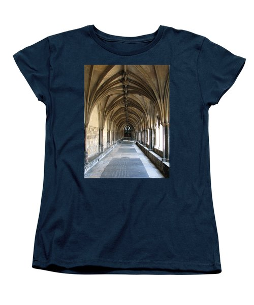 Women's T-Shirt (Standard Cut) featuring the photograph Corridor Of Arches by Stephanie Grant