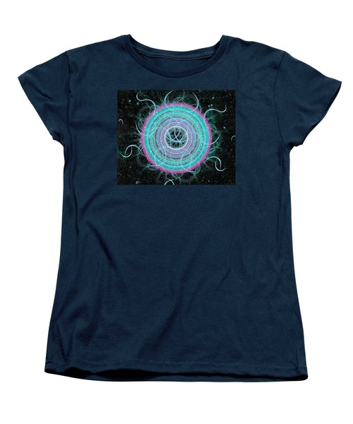 Cosmic Circle Women's T-Shirt (Standard Cut) by Shawn Dall