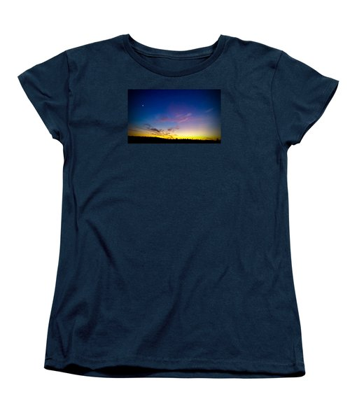 Cotton Candy Clouds Women's T-Shirt (Standard Cut) by Jean Haynes