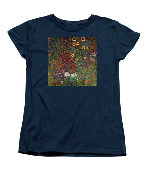 Country Garden With Sunflowers Women's T-Shirt (Standard Cut) by Celestial Images