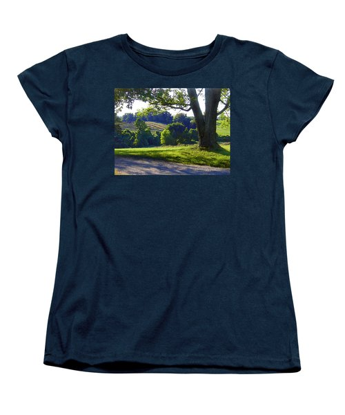 Country Landscape Women's T-Shirt (Standard Cut) by Steve Karol