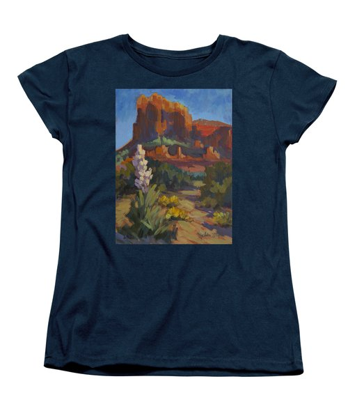 Courthouse Rock Sedona Women's T-Shirt (Standard Cut) by Diane McClary