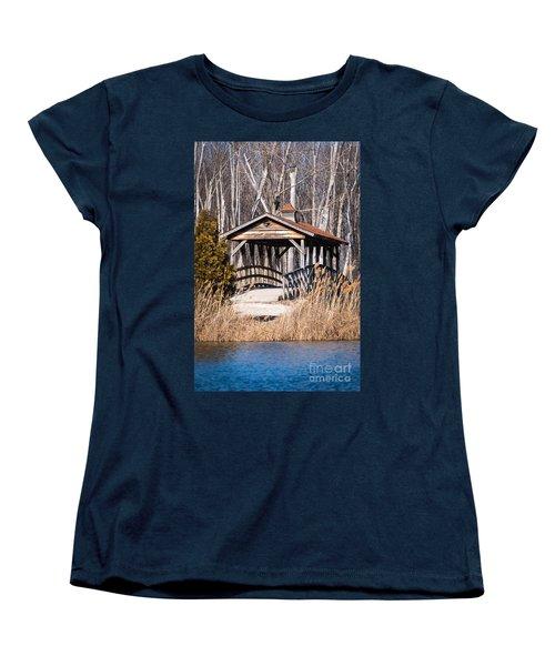 Covered Bridge Women's T-Shirt (Standard Cut) by Patrick Shupert