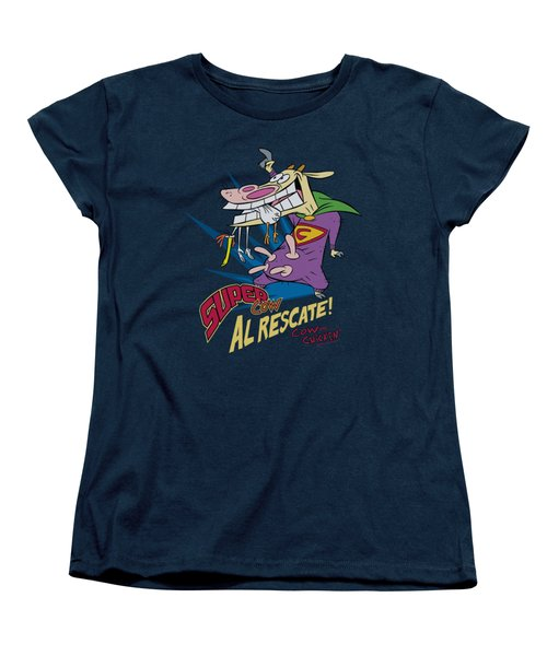 Cow And Chicken - Super Cow Women's T-Shirt (Standard Cut) by Brand A