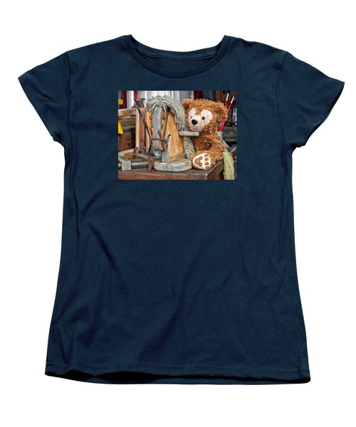 Women's T-Shirt (Standard Cut) featuring the photograph Cowboy Bear by Thomas Woolworth