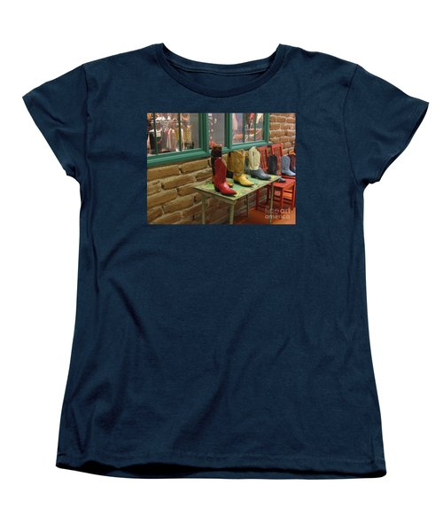 Women's T-Shirt (Standard Cut) featuring the photograph Cowboy Boots by Dora Sofia Caputo Photographic Art and Design