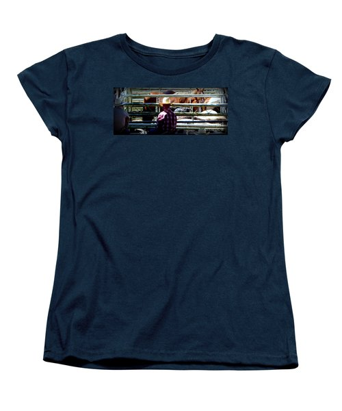 Women's T-Shirt (Standard Cut) featuring the photograph Cowboys Corral by Susan Garren