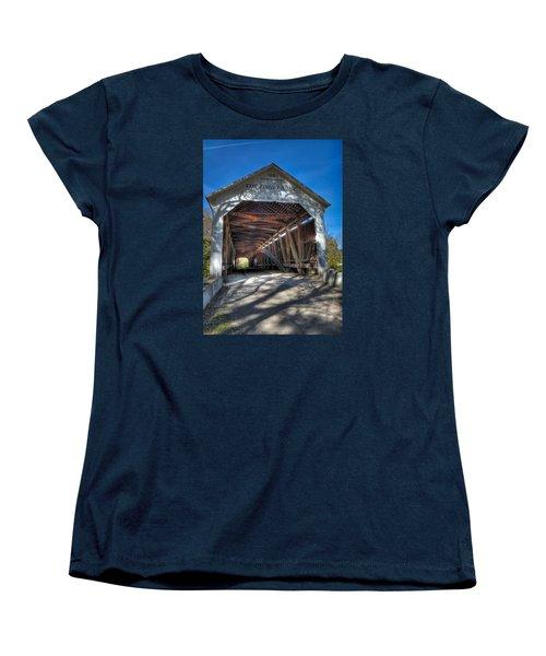 Cox Ford Covered Bridge Women's T-Shirt (Standard Cut) by Alan Toepfer