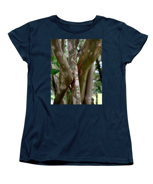 Women's T-Shirt (Standard Cut) featuring the photograph Crape Myrtle Branches by Peter Piatt