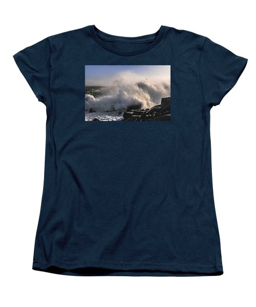 Women's T-Shirt (Standard Cut) featuring the photograph Crashing Surf by Marty Saccone