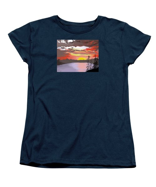 Crater Lake Women's T-Shirt (Standard Cut) by Terry Frederick