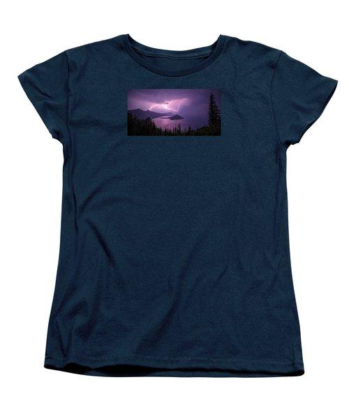 Crater Storm Women's T-Shirt (Standard Cut) by Chad Dutson