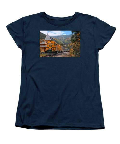 Crawford Notch Train Depot Women's T-Shirt (Standard Cut) by Adam Jewell