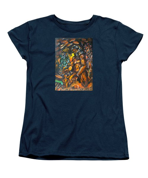 Women's T-Shirt (Standard Cut) featuring the pastel Creation Creacion by Lazaro Hurtado