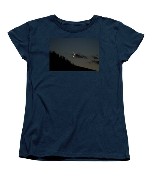 Women's T-Shirt (Standard Cut) featuring the photograph Crescent Silhouette by Jeremy Rhoades