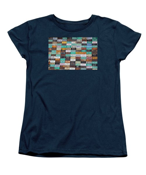 Crested Butte License Plate House Women's T-Shirt (Standard Cut) by Fiona Kennard