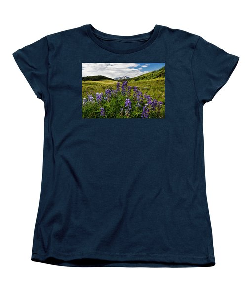 Women's T-Shirt (Standard Cut) featuring the photograph Crested Butte Lupines by Ronda Kimbrow